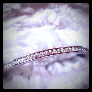 Swarovski Silver Hinged Bangle Bracelet